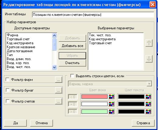 настройки вывода через DDE сервер в Quik